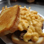 Crawford Bacon Mac n Cheese Burger